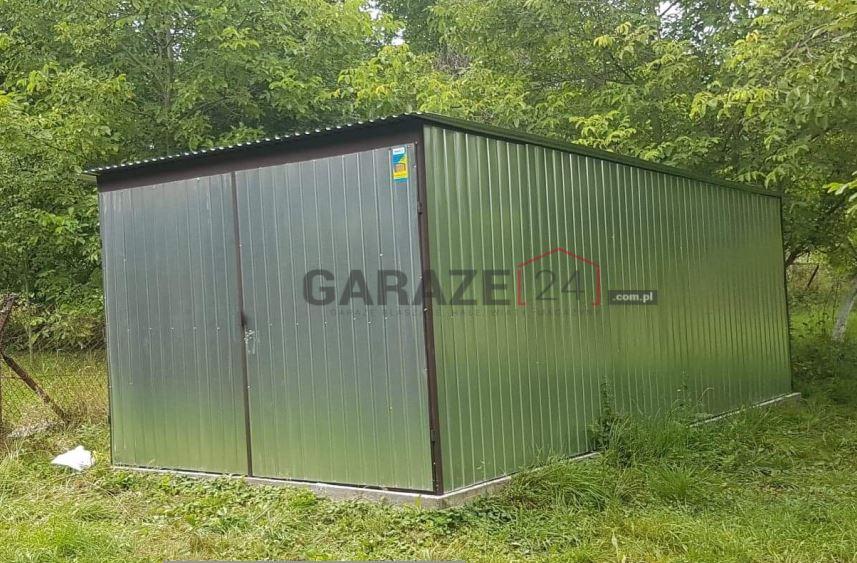 Garaż blaszany 3×5 ocynkowany (pierwszy gatunek)
