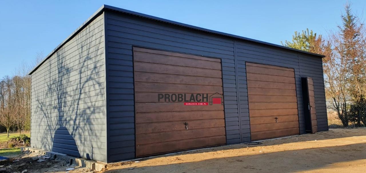 Garaż 9×6 spad w tył PREMIUM + AUTOMATYKA
