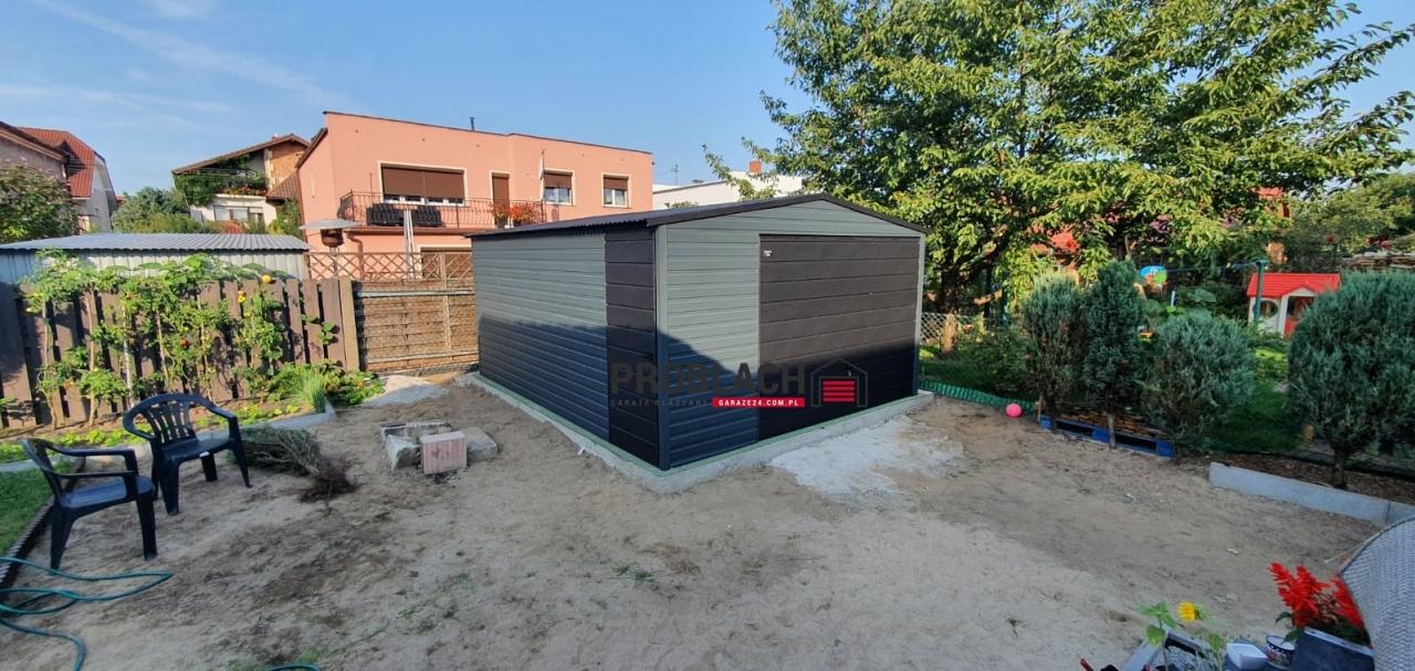 Garaz 4×5 dwuspad GRAFIT RAL