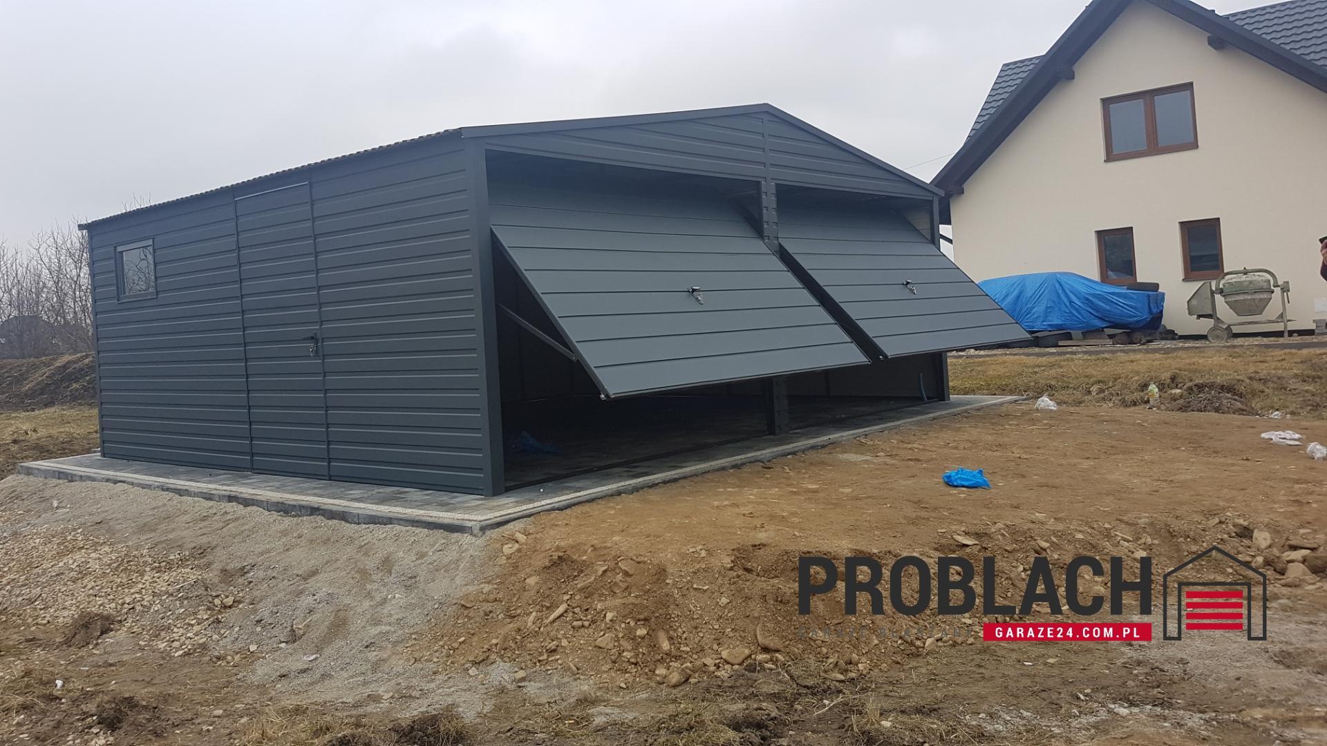 Garaż 6×5,8 dwuspad GRAFIT PREMIUM