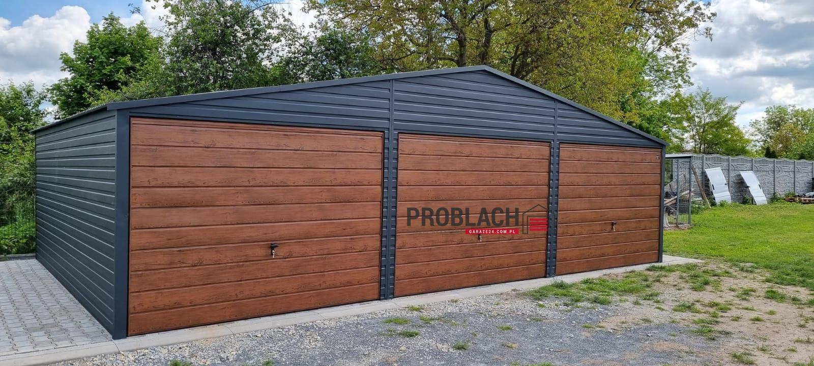 Garaż 9×6 DWUSPAD PREMIUM
