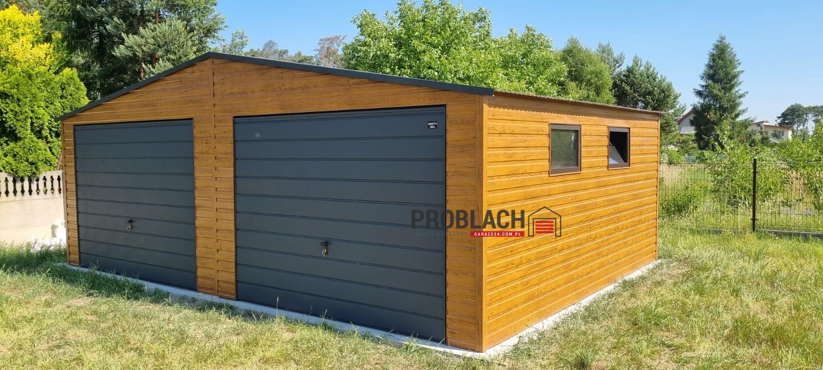 Garaż 7×6 dwuspad PREMIUM
