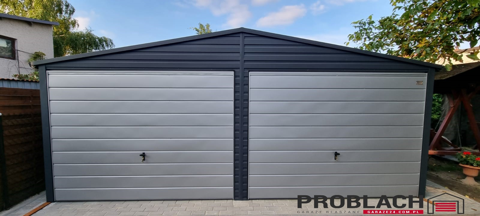 Garaż 6×5,5 dwuspad GRAFIT PREMIUM