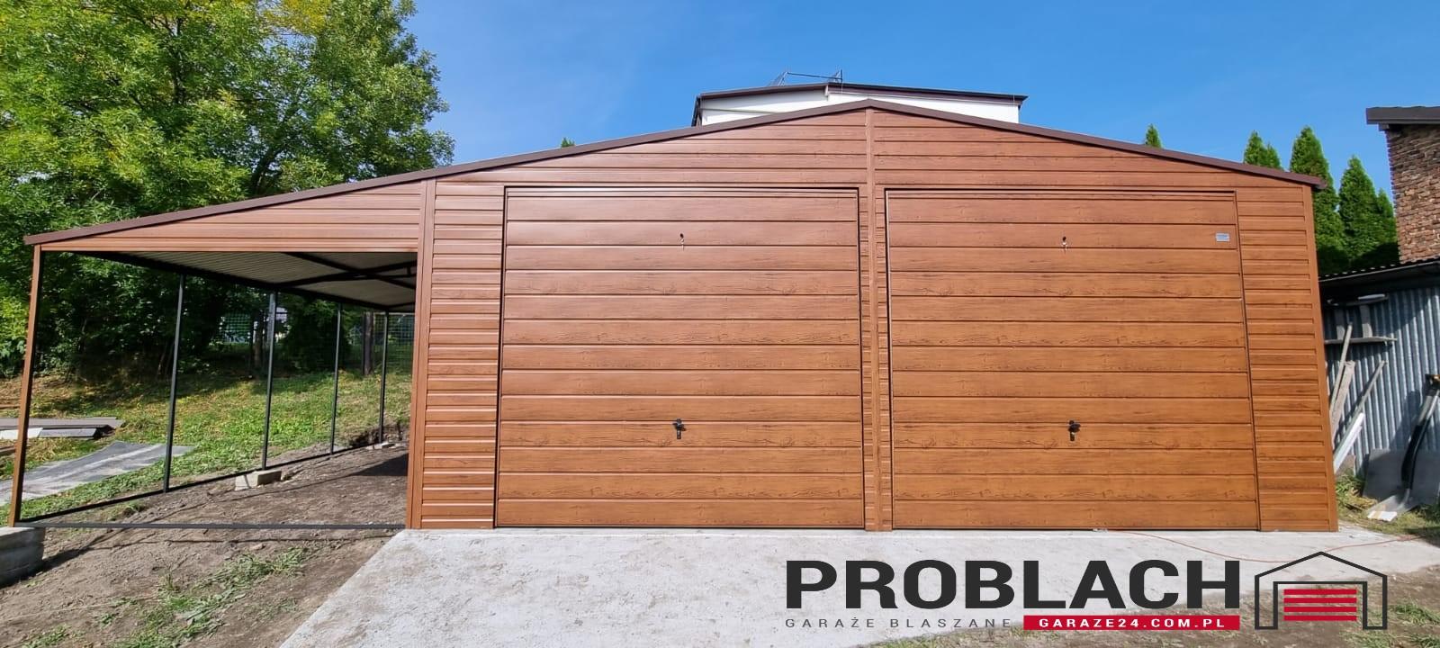 Garaż 7×5 dwuspad + 3m WIATA